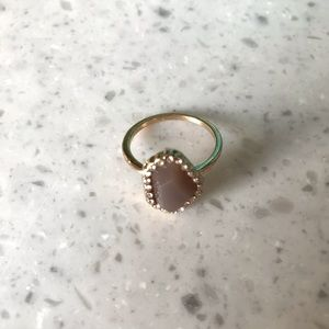 Claires Grey Gemstone Ring